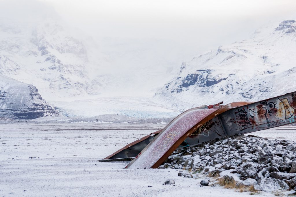 glacier - wreckage - train - Iceland